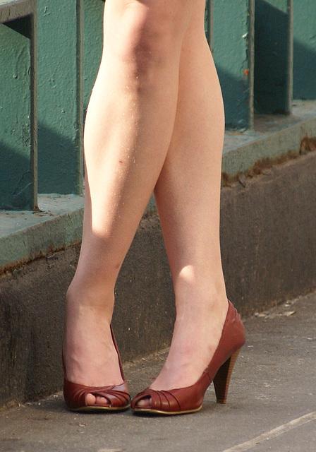 brown heels and legs (F)