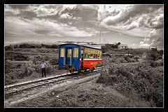 no locomotive in sight