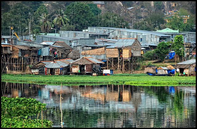 huts at the water
