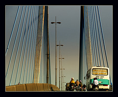 Mekong suspension bridge