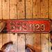 CSD #E6691129 Numberplate in the Vagon Kafe, Prague, CZ, 2009