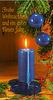 blua kandelo - blaue Kerze