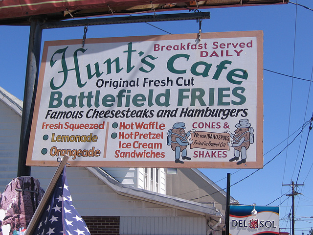 Hunt's Cafe Battlefield Fries, Gettysburg, Pa.