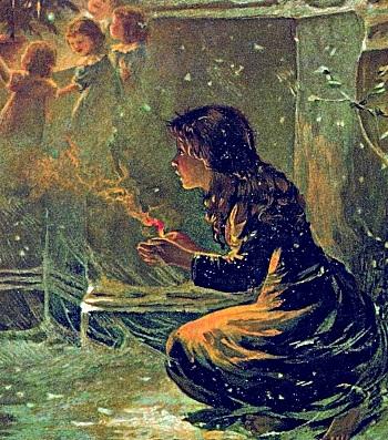 Alumetknabino de Andersen  - Das Mädchen mit den Schwefelhölzchen (Andersen)