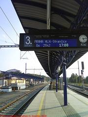 New Digital Platform Trainboard at Nadrazi Cercany, Cercany, Bohemia (CZ), 2009
