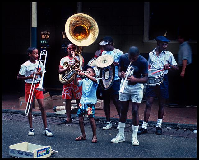 little black trumpet boy