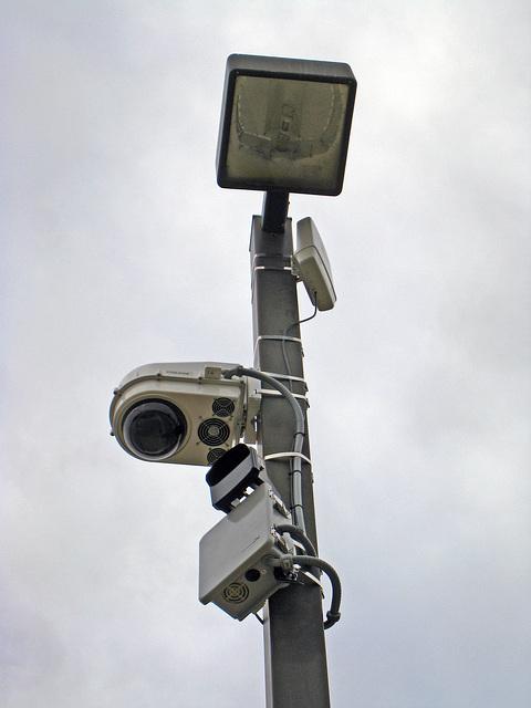 Police Camera Near Library (4662)