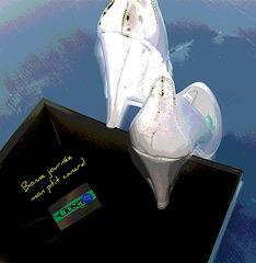 Les escarpins de Christiane / Closer -  Escarpins de mariage avec talons de 12 cm . Photofiltration