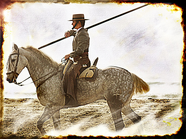 a cheval ...