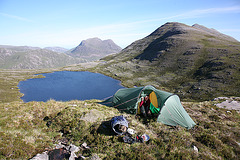 Camping above Loch a'Bhrisidh