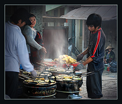 cooking at the street