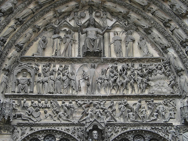 IMG 7672ac Bourges Cathedral Central Porch The Last Judgment