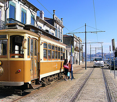 Tram by the Douro
