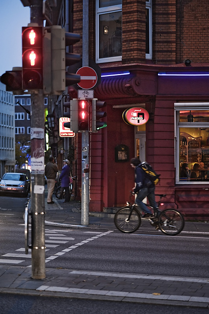 Cyclist in the evening
