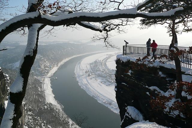 Bastei in den Jahreszeiten