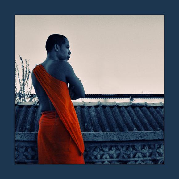 the blue-orange monk