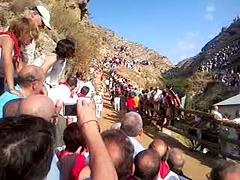 Encierro del Pilón en Falces (Navarra)