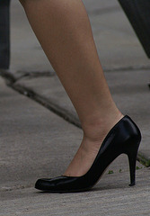 walking high heels