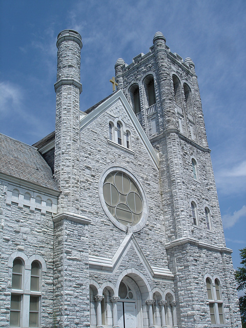 St-Mary's Assumption church / Middleburg, Vermont /  USA - États-Unis - 25 juillet 2009.