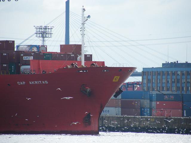 hamburg: big harbour, big ships