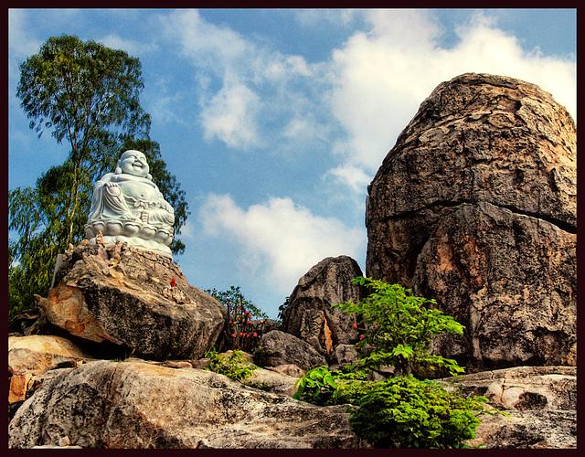 Buddha on the rocks........
