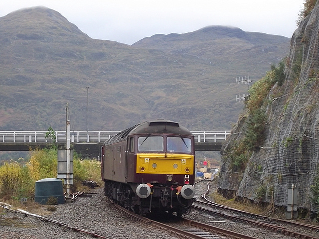 47 786 at a very damp Kyle