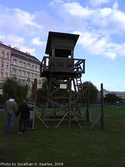 Watchtower From Pribram Prison Camp, on Display in Malostranska, Prague, CZ, 2009