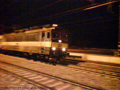 Blurred 363 Class Electric at Night, Cercany, Bohemia (CZ), 2009