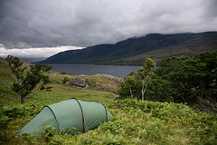 Camping above Loch Maree