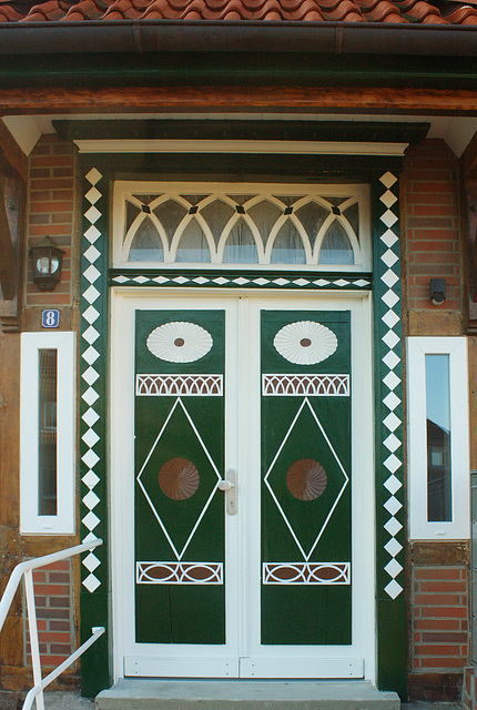 renovierte Eingangstür
