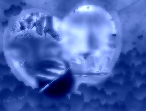 Rêve de soumission / Submissive desires dream - Création Krisontème/ Effet positif de négatif photofiltrien.
