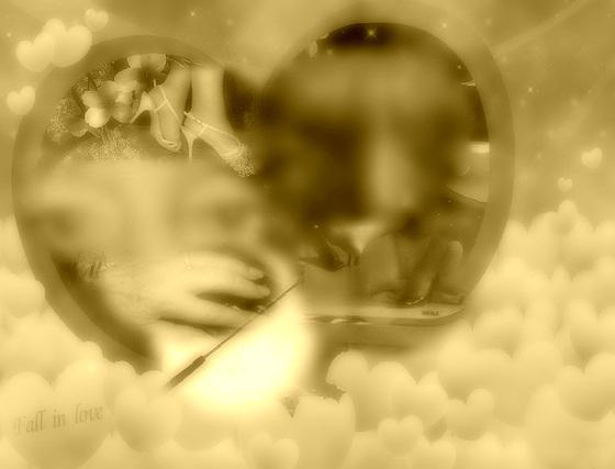 Rêve de soumission - Submissive desires dream.  Création Krisontème originale avec yeux brouillés
