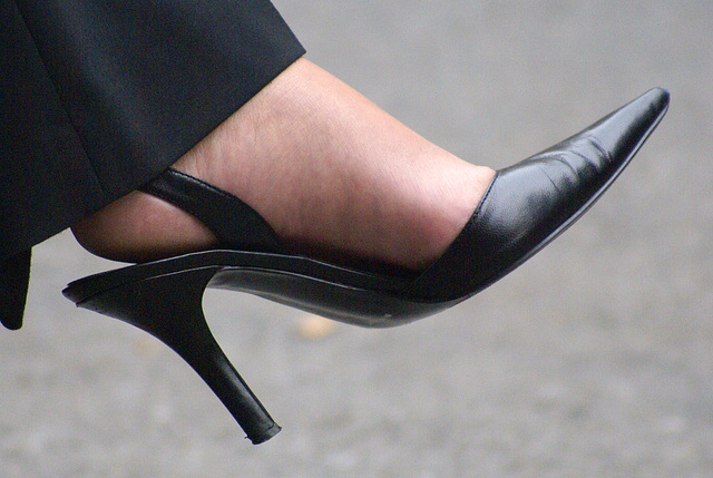 street shot of nine west heels