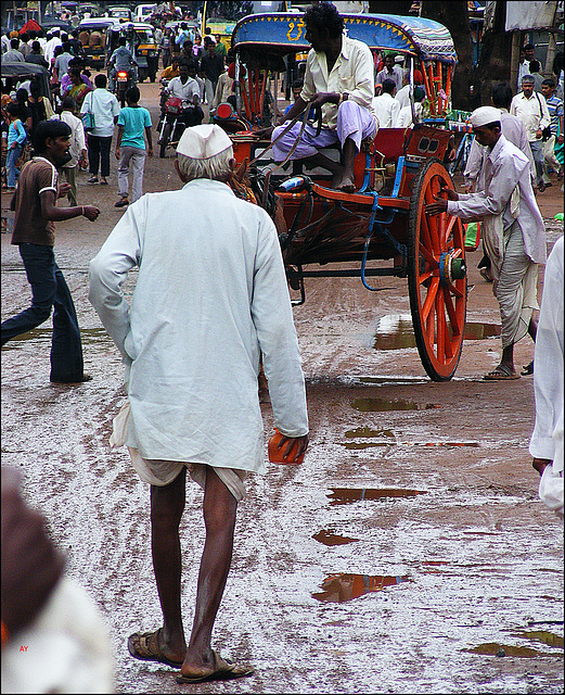 Old man in a dhoti