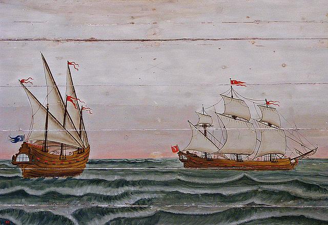 Turkish warships