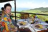 Panorama mit Hirsch-Steak