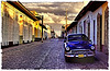 empty street in Trinidad