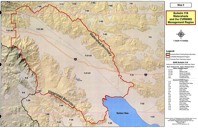 Map 2 - Bulletin 118 Watersheds and the CVRWMG Management Region