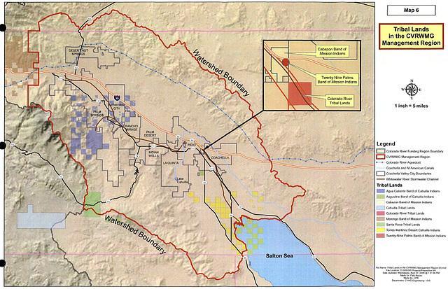 Map 6 - Tribal Lands in the CVRWMG Management Region
