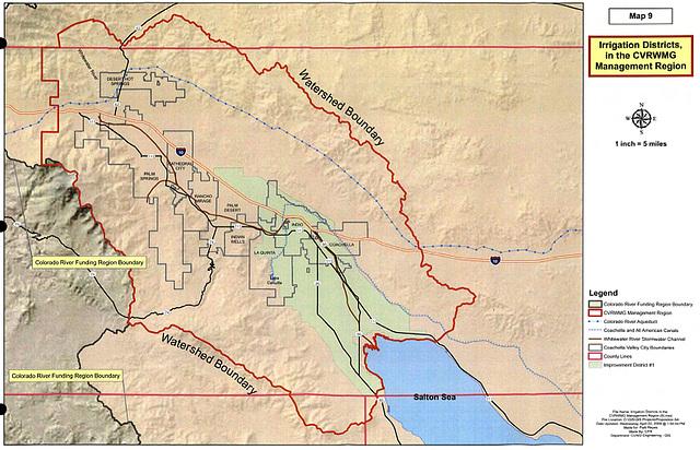 Map 9 - Irrigation Districts in the CVRWMG Management Region