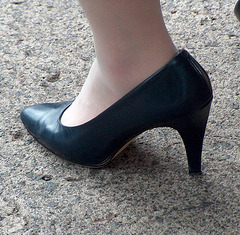 caressa navy heels
