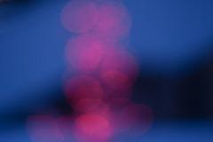 Pink blur on blue blur