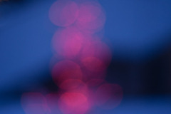 Pink blur on blue blur