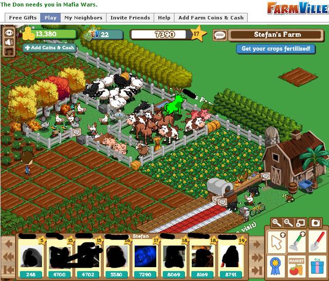 FarmVille ist Braun-Weiss!