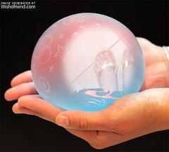 Pieds sexy dans boule de cristal  /  Sexy feet in a crystal ball -  Création Krisontème avec permission.