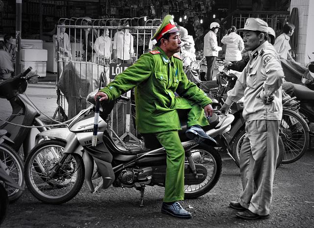 slackly frog policeman in Dalat
