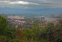 View to the city Luang Namtha