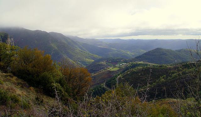 panorama  sur les monts d'Orb, depuis la Croix de Mounis