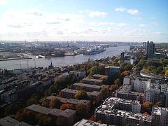 Blick vom Hamburger Michel auf Stadt, Hafen & Elbe