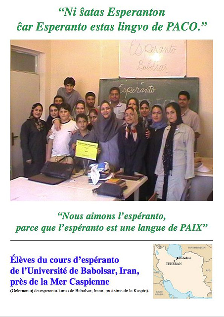Esperanto-kurso en Babolsar, Irano